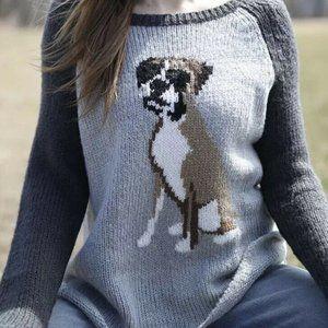 Wooden Ships Dog Boxer Crewneck Sweater #1243